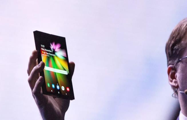 Il dispositivo pieghevole di Samsung presentato da Justin Denison alla SDC 2018