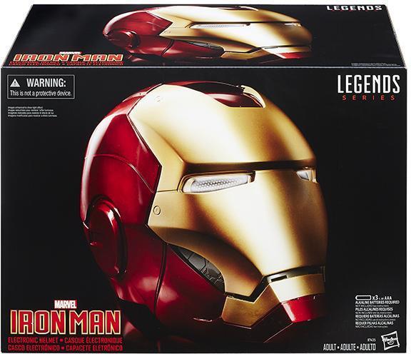 Scatola dell'elmo di Iron Man Legends