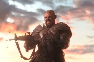 Karl Urban in una scena di Thor: Ragnarok