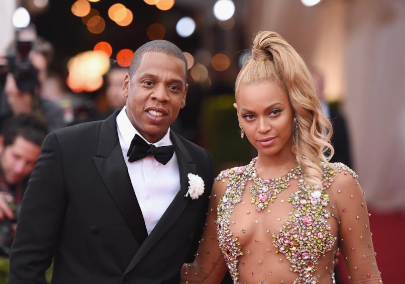 Primo piano di Jay Z e Beyoncé sul red carpet