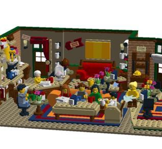 Un'immagine ufficiale del set LEGO Ideas dedicato a Friends