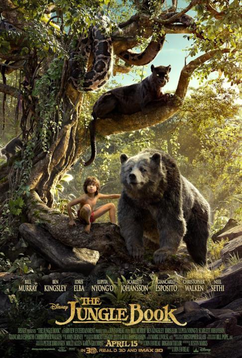 Mowgli e Baloo nella locandina del Libro della Giungla
