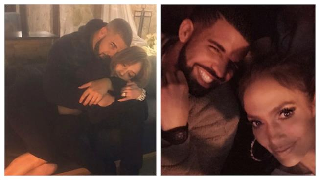 Alcune foto insieme di Drake e Jennifer Lopez