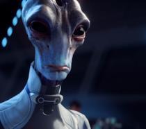 Primo piano per un Salarian di Mass Effect: Andromeda