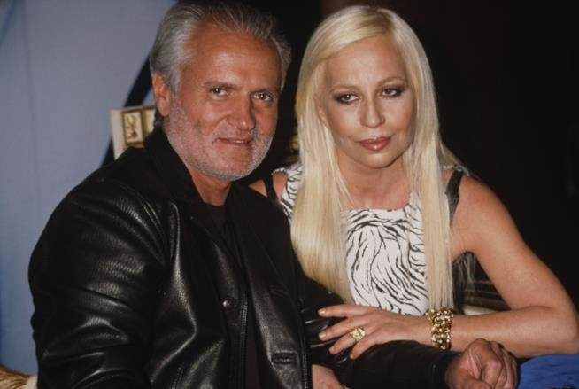 Gianni Versace e sua sorella Donatella