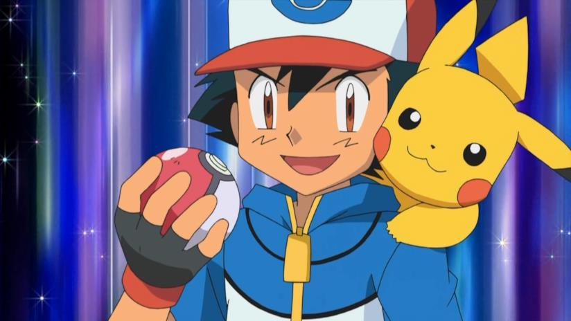 Ash e Pikachu nella serie animata