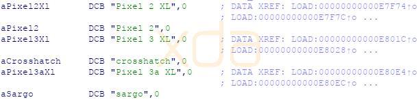 Alcune stringhe di codice di Android Q citano il Pixel 3a XL