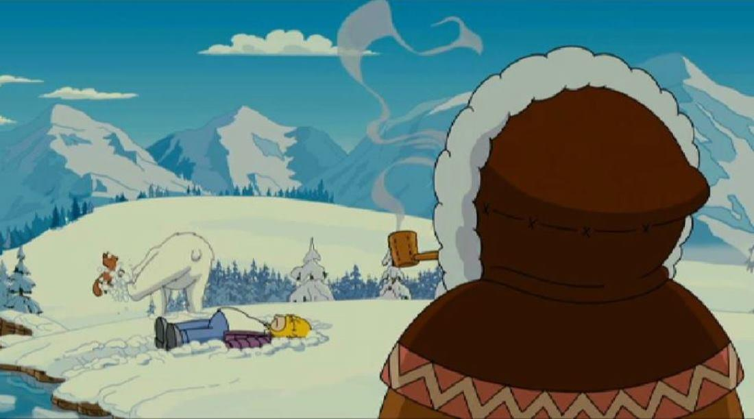 La sciamana salva Homer, proprio come Obi-Wan Kenobi salva Luke Skywalker in Star Wars di George Lucas