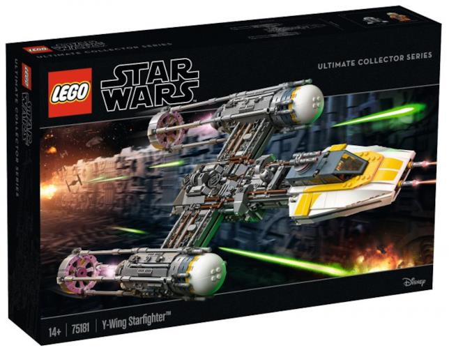 Il box ufficiale del set Star Wars Ultimate Collector Series Y-Wing Starfighter di LEGO