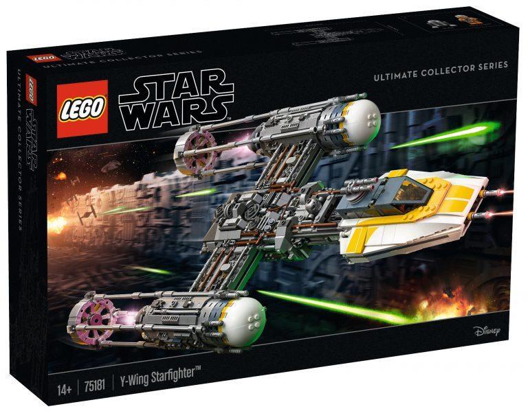 Il box ufficiale del set Star Wars Ultimate Collector Series Y-Wing Starfighter di LEGO