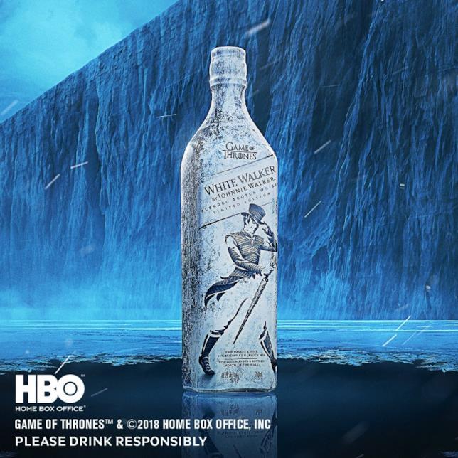 Bottiglia di White Walker, whisky ispirato a Game of Thrones