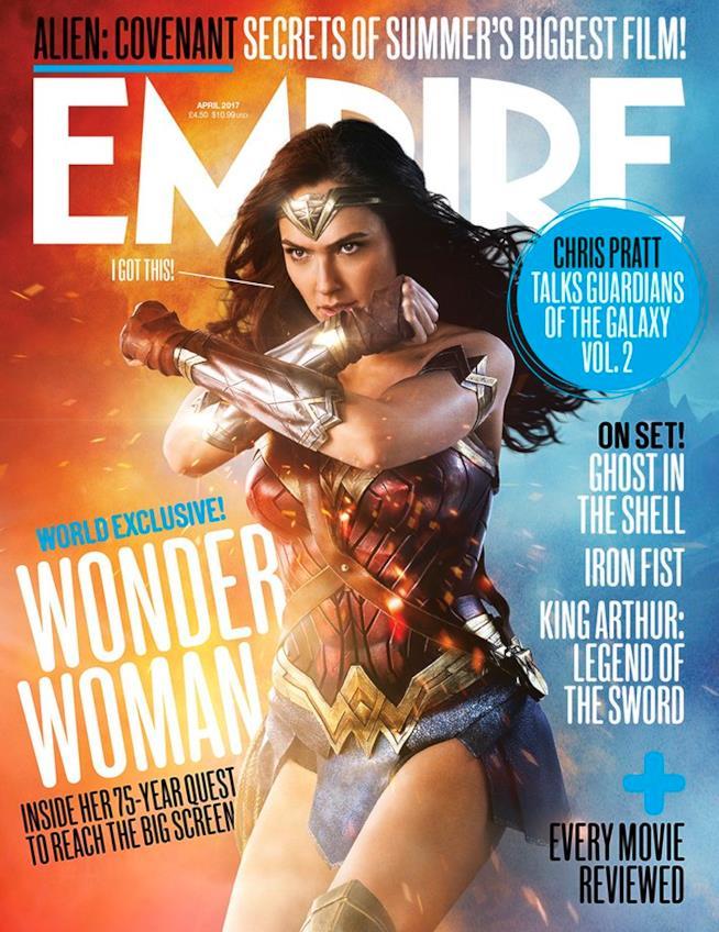 La cover di Empire con Wonder Woman