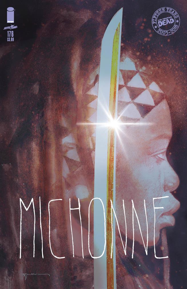 La variant cover del volume 176 di The Walking Dead dedicata a Michonne