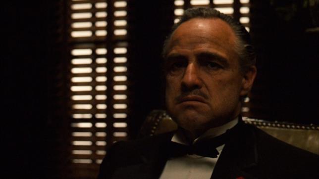 Marlon Brando nel film Il padrino