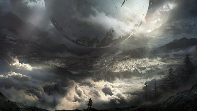 Un artwork del Viaggiatore di Destiny 2