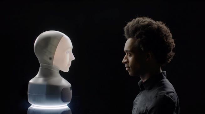 Una foto promozionale del robot social Furhat