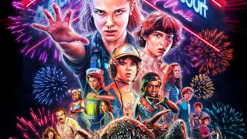 I ragazzi di Stranger Things nel poster promozionale della terza stagione