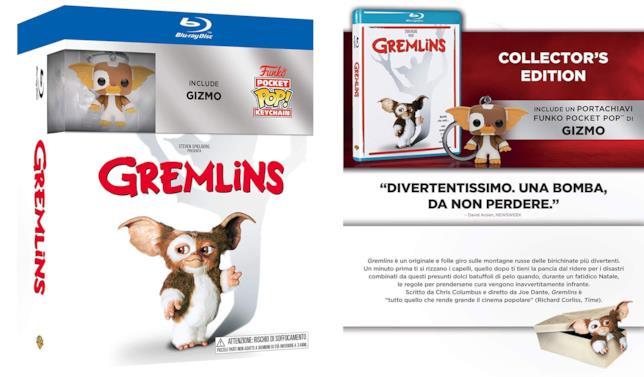Il box con la Collector's Edition di Gremlins col portachiavi Funko di Gizmo
