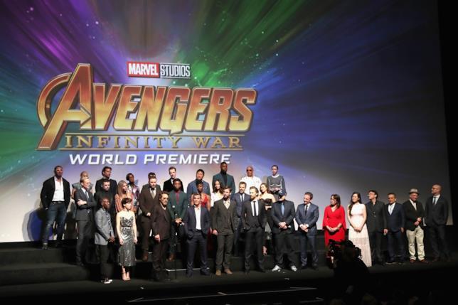La première mondiale di Avengers: Infinity War
