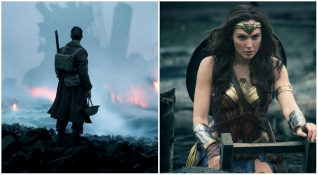 Un collage tra Dunkirk e Wonder Woman