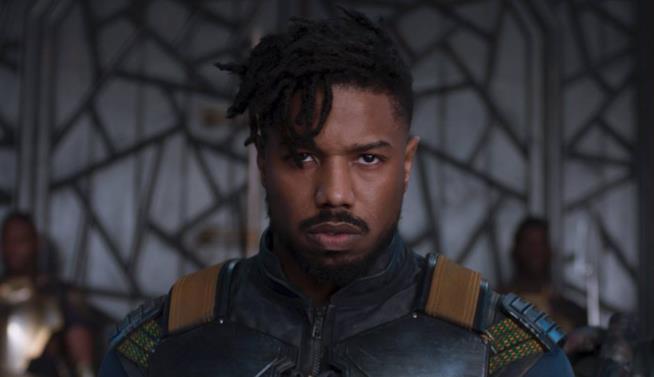 Killmonger interpretato da Michael B. Jordan in Black Panther
