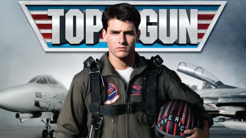 Tom Cruise in un poster di Top Gun