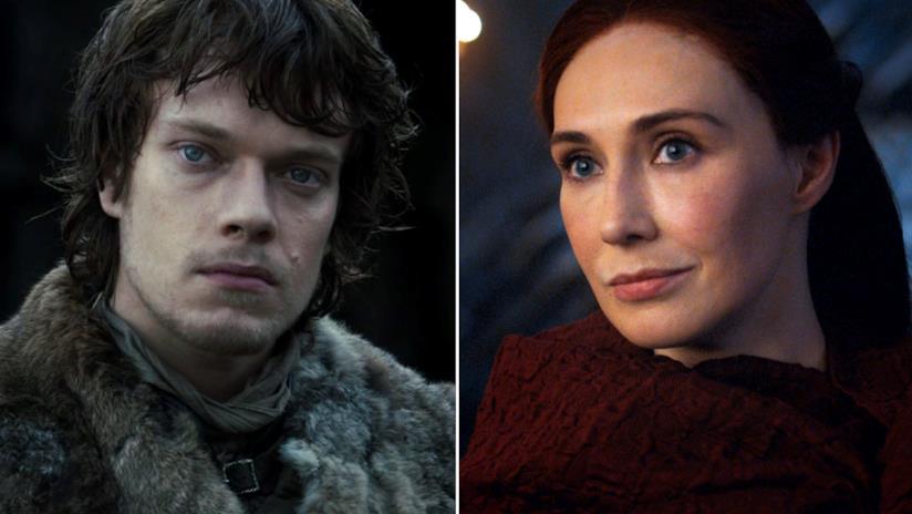 Alfie Allen e Carice van Houten in Game of Thrones