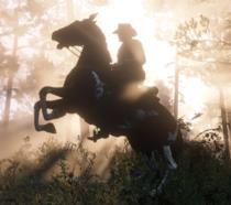 Arthur Morgan a cavallo in RDR2