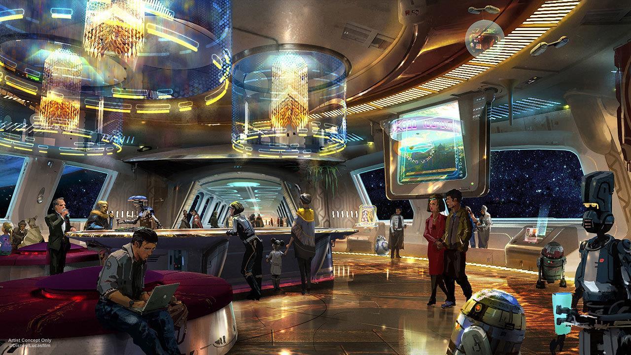 Star Wars: Galactic Starcruiser: una sala dell'attrazione