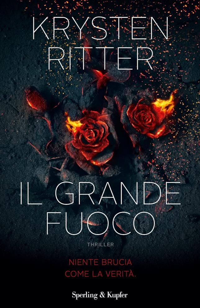 La copertina de Il Grande Fuoco con due rose ardenti