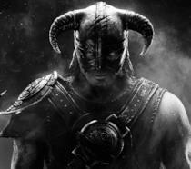 L'iconico Dovahkiin sulla copertina di Skyrim