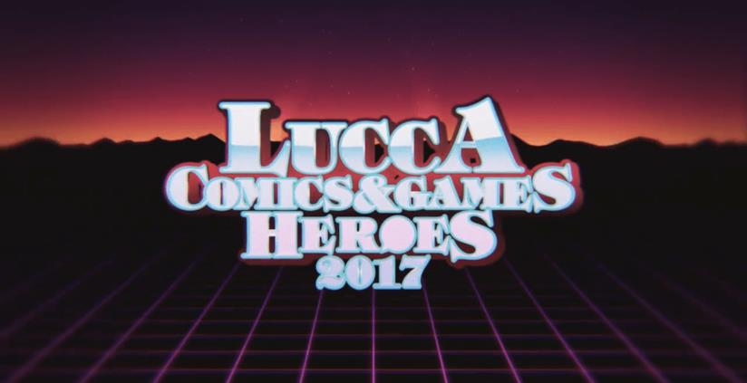 Il manifesto in stile anni '80 del Lucca Comics & Games 2017
