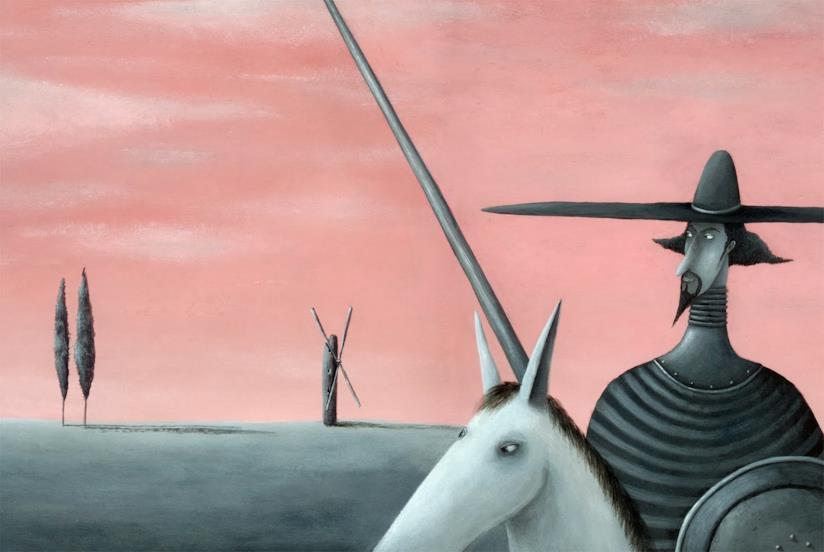 Un'illustrazione di Don Chisciotte