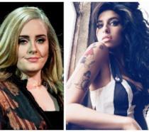 Primo piano di Adele e Amy Winehouse