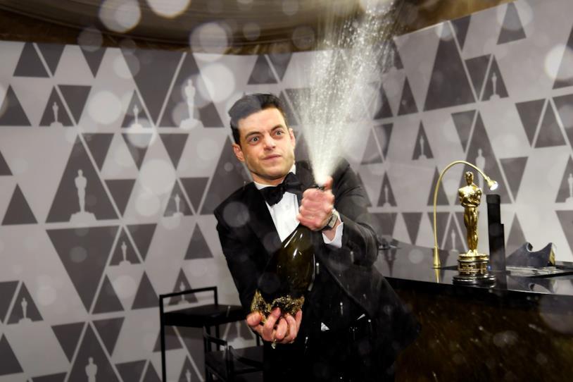 Fiumi di champagne per Rami Malek