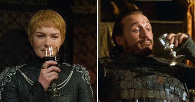 Cersei e Bronn che bevono