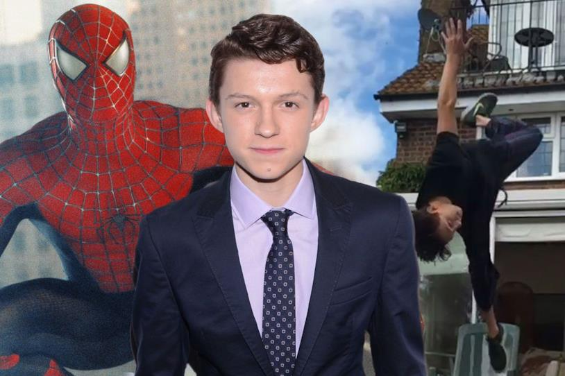 Tom Holland in posa