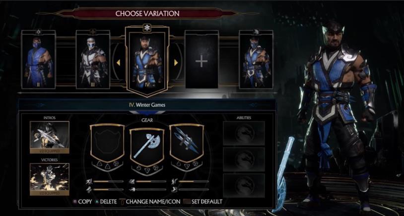 La personalizzazione dei kombattenti in Mortal Kombat 11