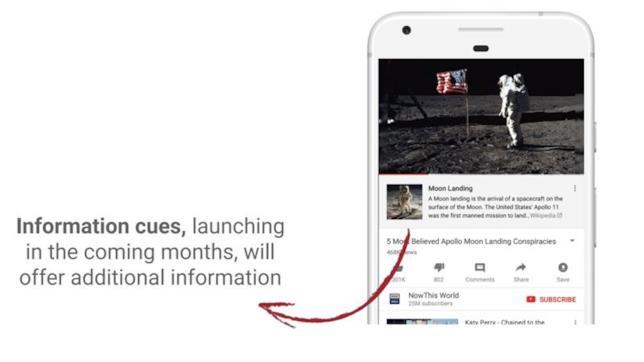 Il nuovo tool di YouTube in collaborazione con Wikipedia che apparirà nei video contetenti fake news