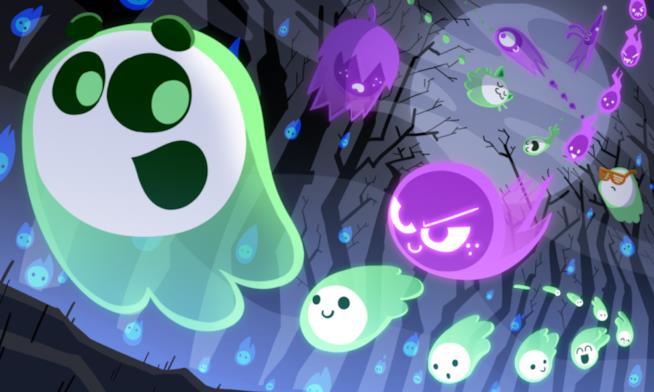 Un'immagine promozionale del Doodle-gioco di Google per Halloween 2018