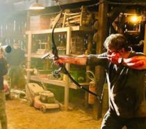 Sylvester Stallone sul set di Rambo: Last Blood