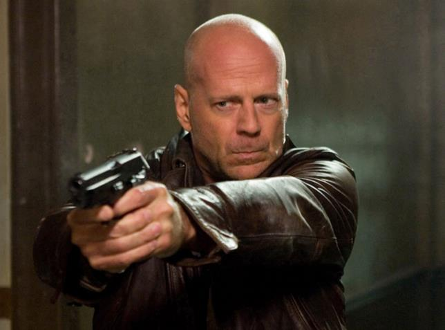 Bruce Willis in una scena di Die Hard