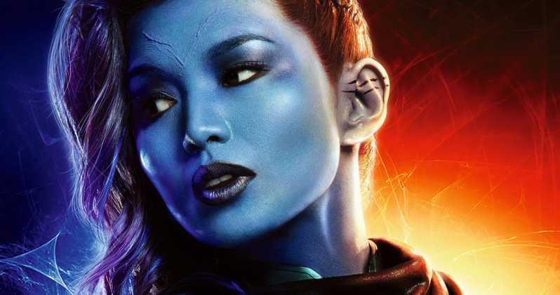 Un primo piano di Gemma Chan come Minn-Erva nel poster di Captain Marvel