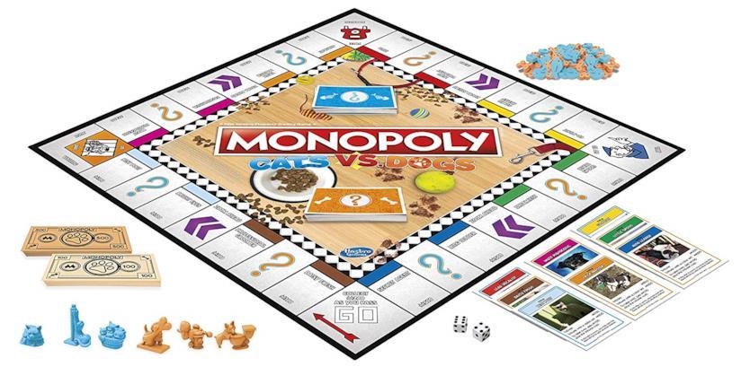 Il tabellone del nuovo Monopoly tra cani e gatti