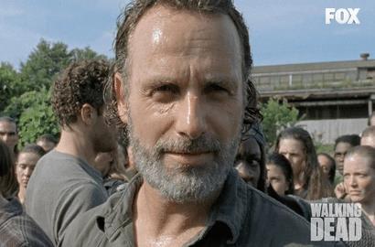 Il sorriso di Rick per il finale di The Walking Dead su FOX