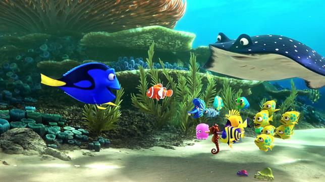 Scena del film Disney Pixar Alla Ricerca di Dory