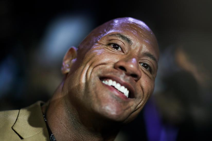 Un sorridente Dwayne Johnson