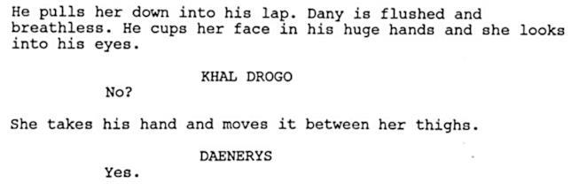 Lo script del pilot di GoT mai andato in onda: la prima notte di nozze tra Daenerys e Khal Drogo