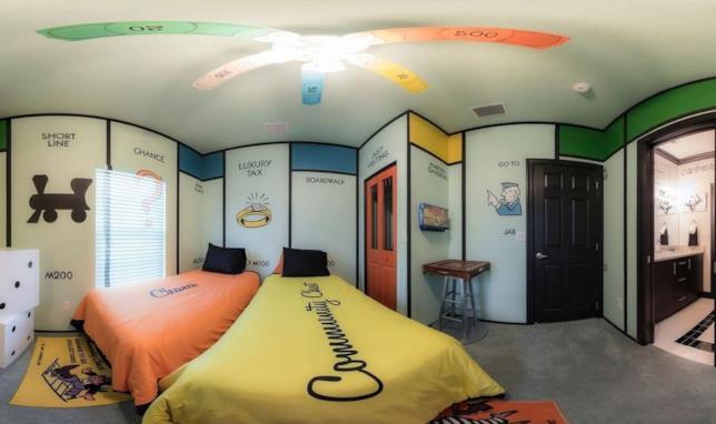 La stanza a tema Monopoly