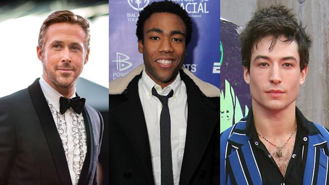 Donald Glover, Ryan Gosling e Ezra Miller